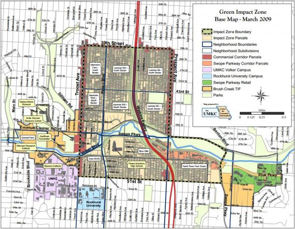 Most of Wanda Taylor's Troostwood neighbors are part of the Green Impact Zone, which cuts off at 51st Street. The neighborhood considers its southern border to be 52nd Street, the start of Rockhurst University's campus.