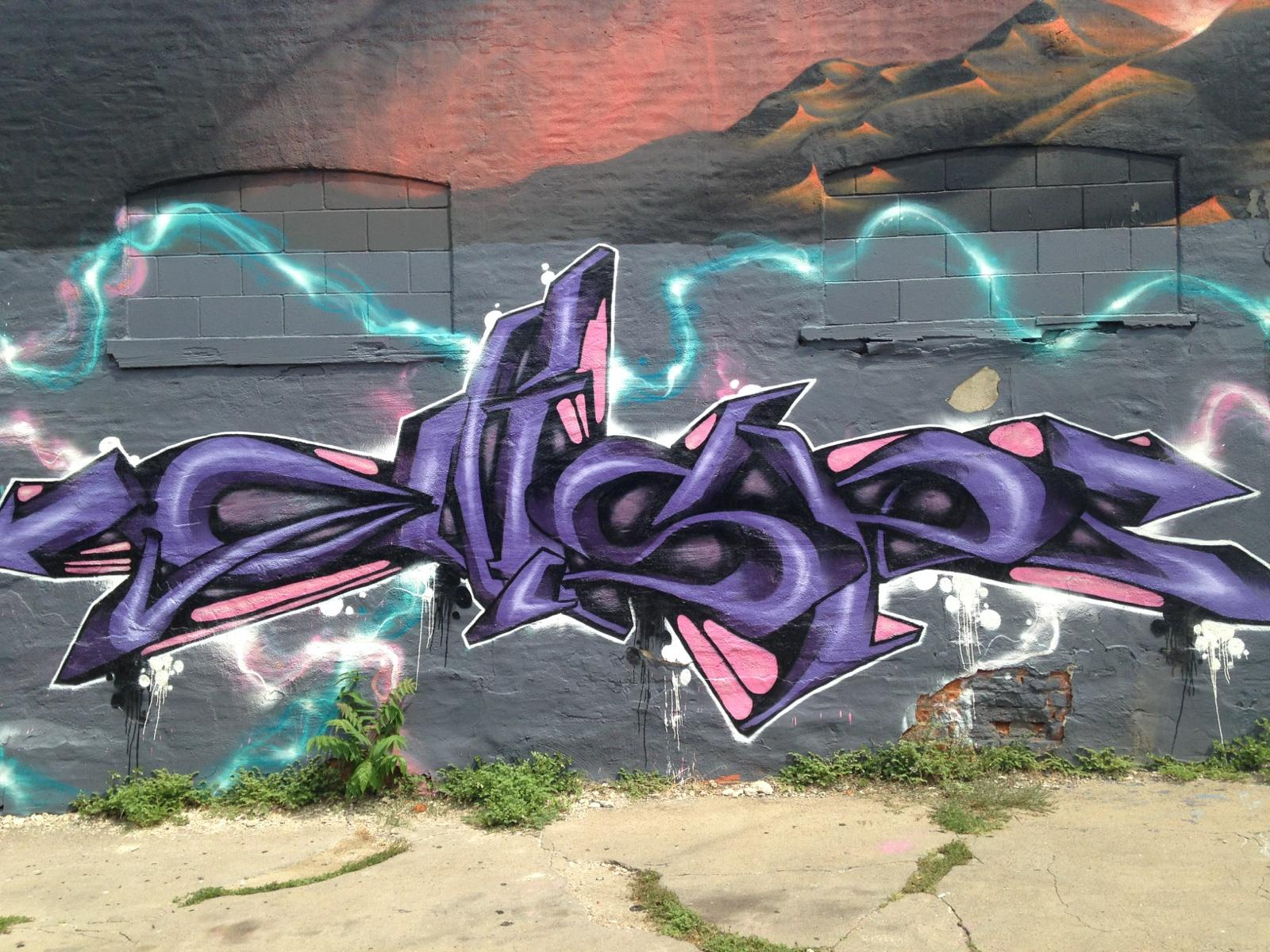 This Work By Graffiti Writer And Street Artist Gear Is At The Mercy Seat Tattoo And Art Gallery At 210 E 16Th St Kansas City Mo