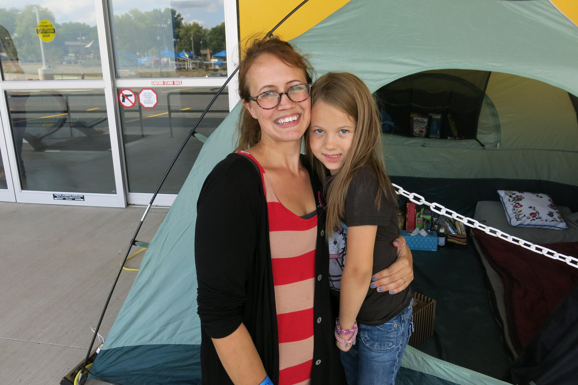 meet the people waiting in line for the ikea opening kcur. Black Bedroom Furniture Sets. Home Design Ideas