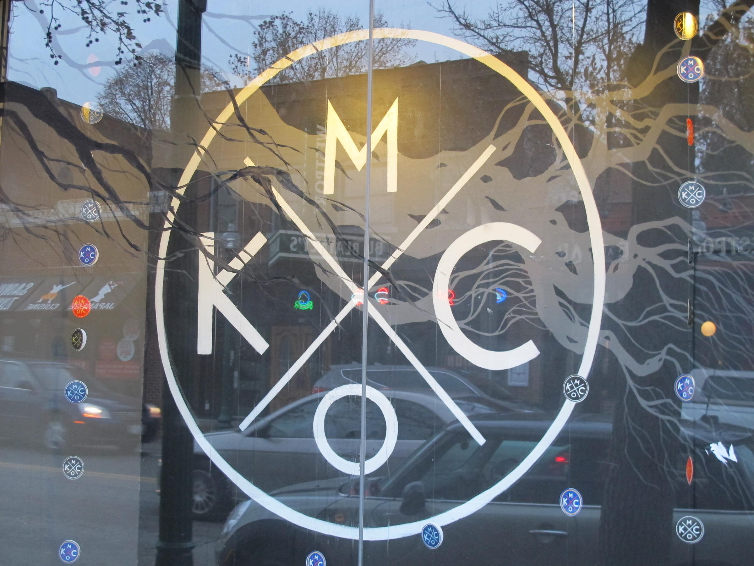 Shirt design kansas city - This Kansas City Mo Symbol Is Often Found Throughout The Metro On Shirts And Hats This Is Part Of A Window Display At The Bunker A Retail Store In