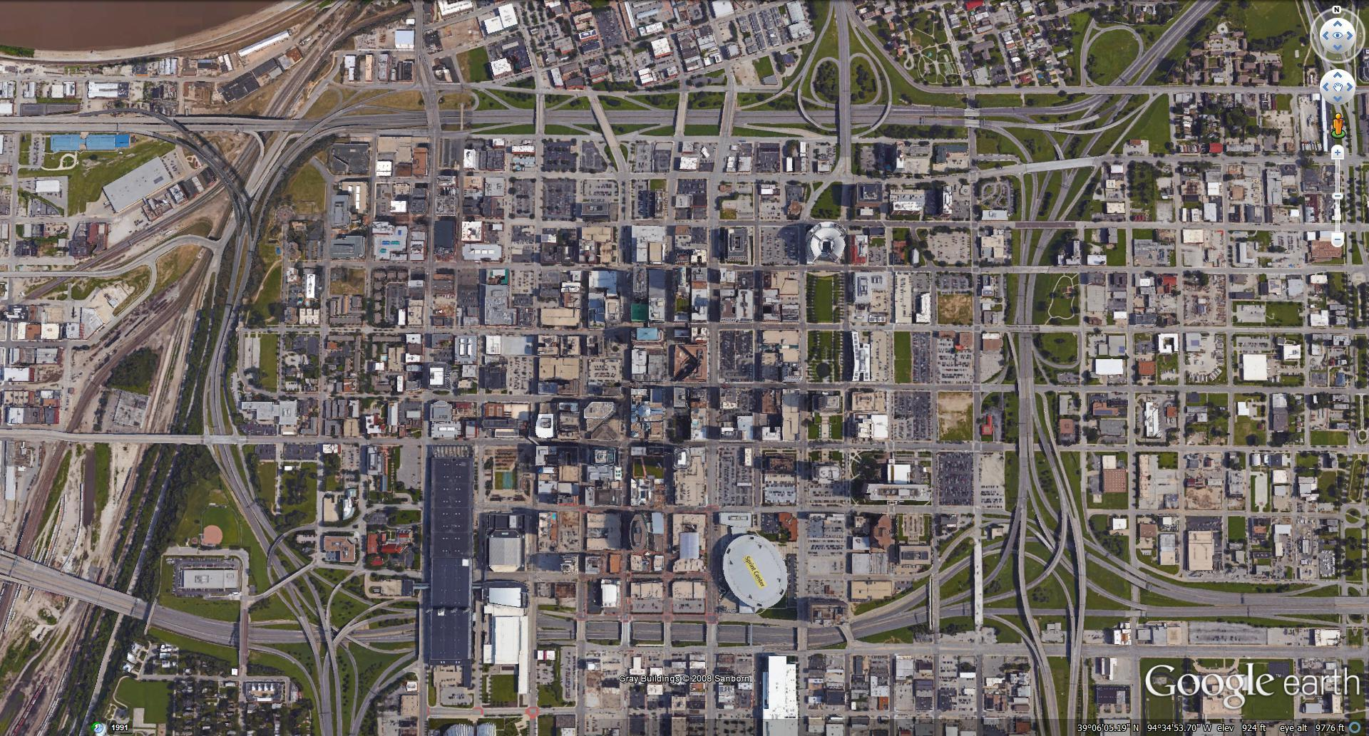 check out what downtown kansas city looks like in 'simcity'  kcur - krest used this google earth image of kansas city and google maps asreferences while creating his virtual kansas city downtown