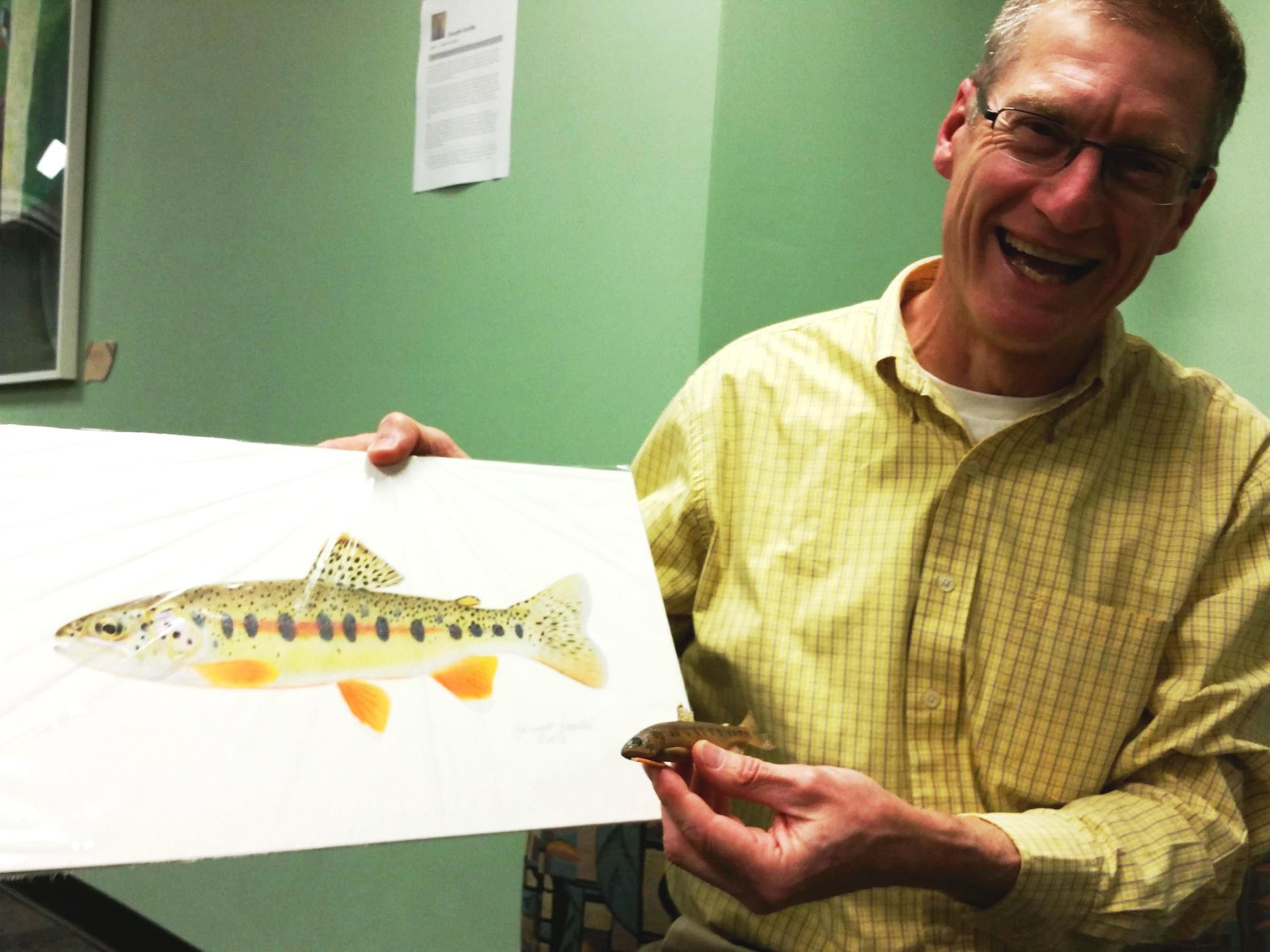 Freshwater fish kansas city - Joseph Tomelleri Hangs Out With His Art And The Specimen That Inspired It