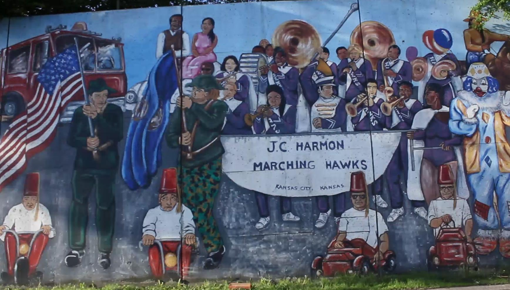 take a journey through history along the argentine mural in kck kcur credit michael coy documentarian