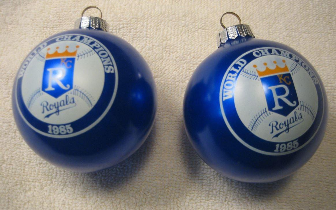 whats your most prized royals treasure for mary mathews its these commerative 1985 world series christmas ornaments that belonged to her mother in law - Royals Christmas Ornament