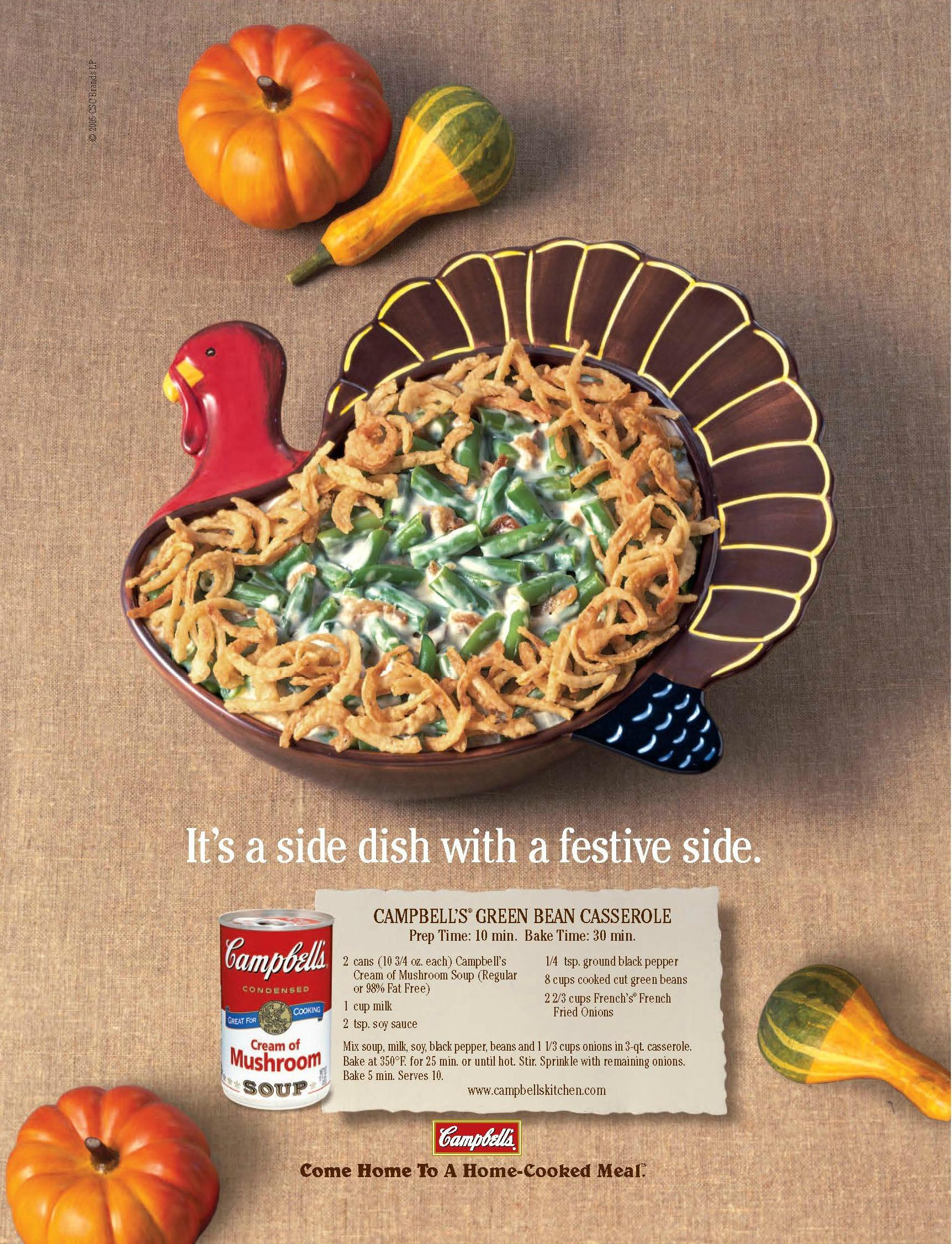 Campbell Kitchen Recipe Green Bean Casserole Is A Midwestern Holiday Classic Born Back