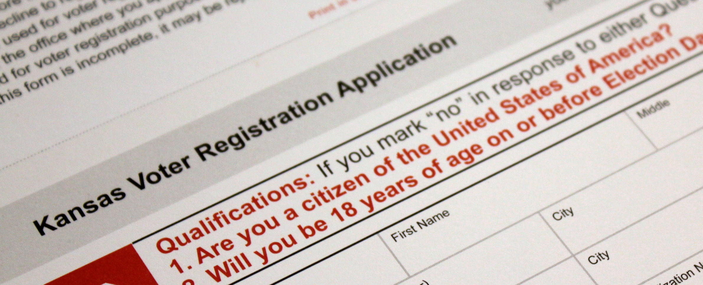 Trial Tests Kansas Voter Registration Rules And Kobachs Fraud
