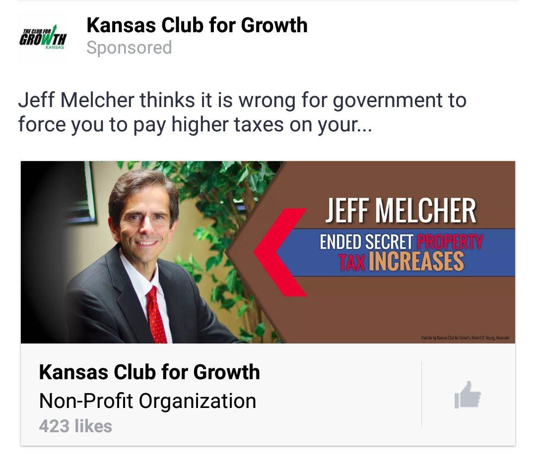 Kansas johnson county real estate taxes - Kansas Club For Growth Has Paid For Facebook Ads Using The Secret Tax Increases Language In Support Of Johnson County Sen
