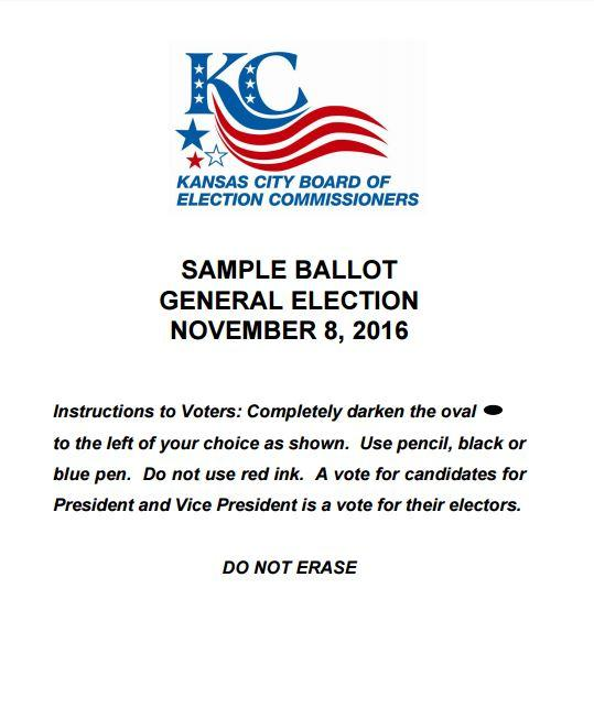 Voters Ballot Sample 2016