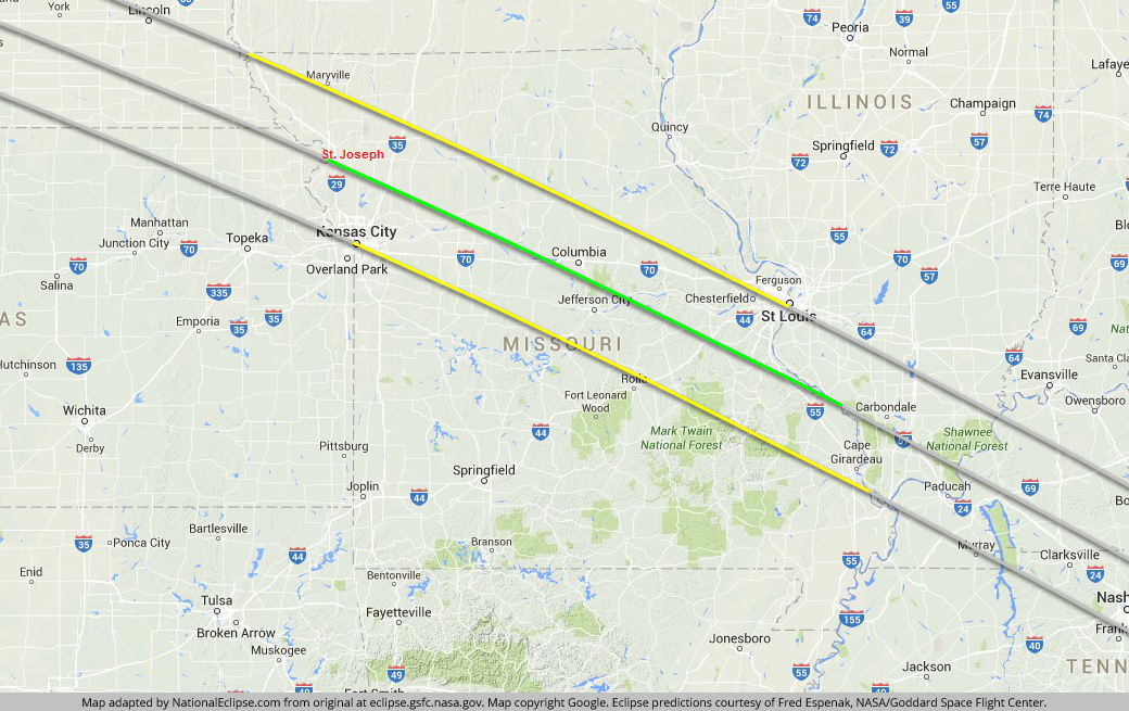 Solar Eclipse 2017 Highway Traffic Map.Here S What You Need To Know In Kansas City Before You Hit The Road