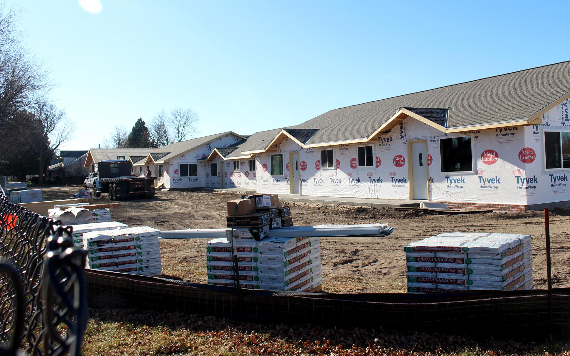 New apartments are being built in Holdrege