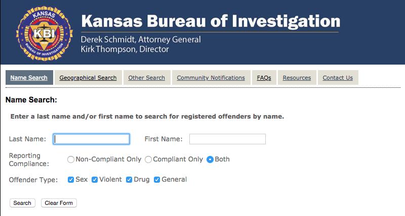 Kbi sex offender registry