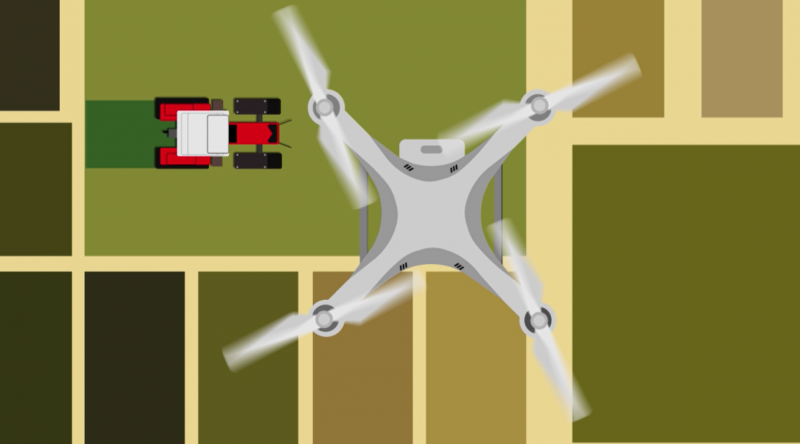 Aerial imagery is the most common use for drones in agriculture. Taking inch-by-inch resolution imagery allows for precise use of chemicals and the detective issues with equipment.