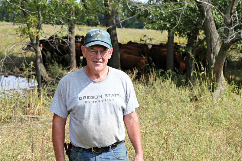 Farmer Steve Landers owns Covered-L Farms in central Missouri, where he raises grass-fed beef.