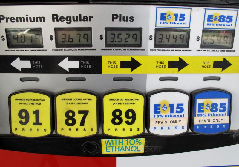 Nearly all of the ethanol blended into U.S. gasoline is made from corn.