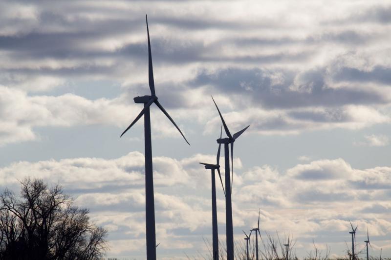 A wind farm in northwest Iowa.