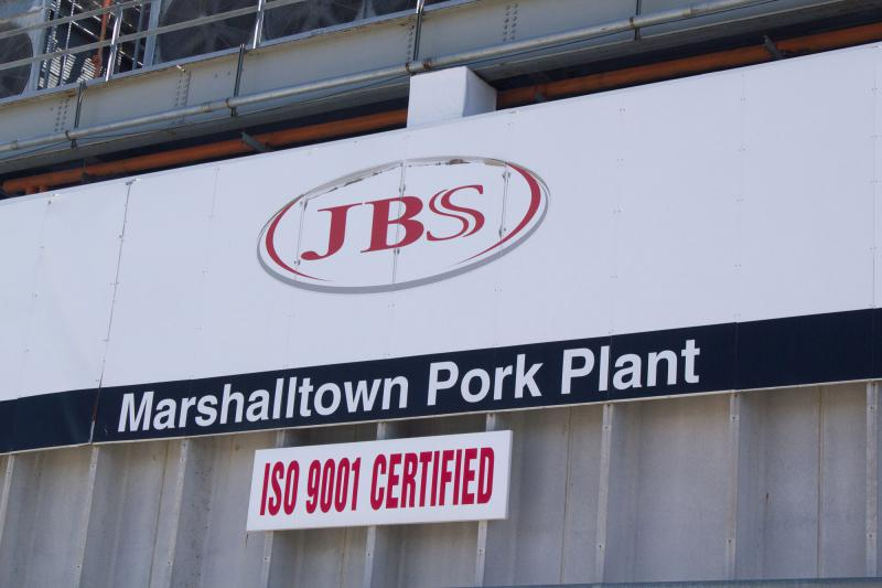 Pork slaughter and processing plants like this one in Marshalltown, Iowa, could see changes to how federal inspections are conducted.