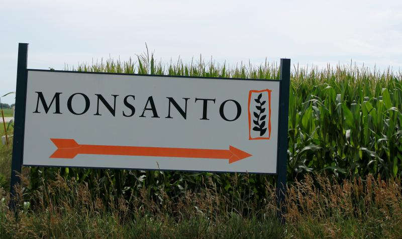 A Monsanto sign in western Illinois.