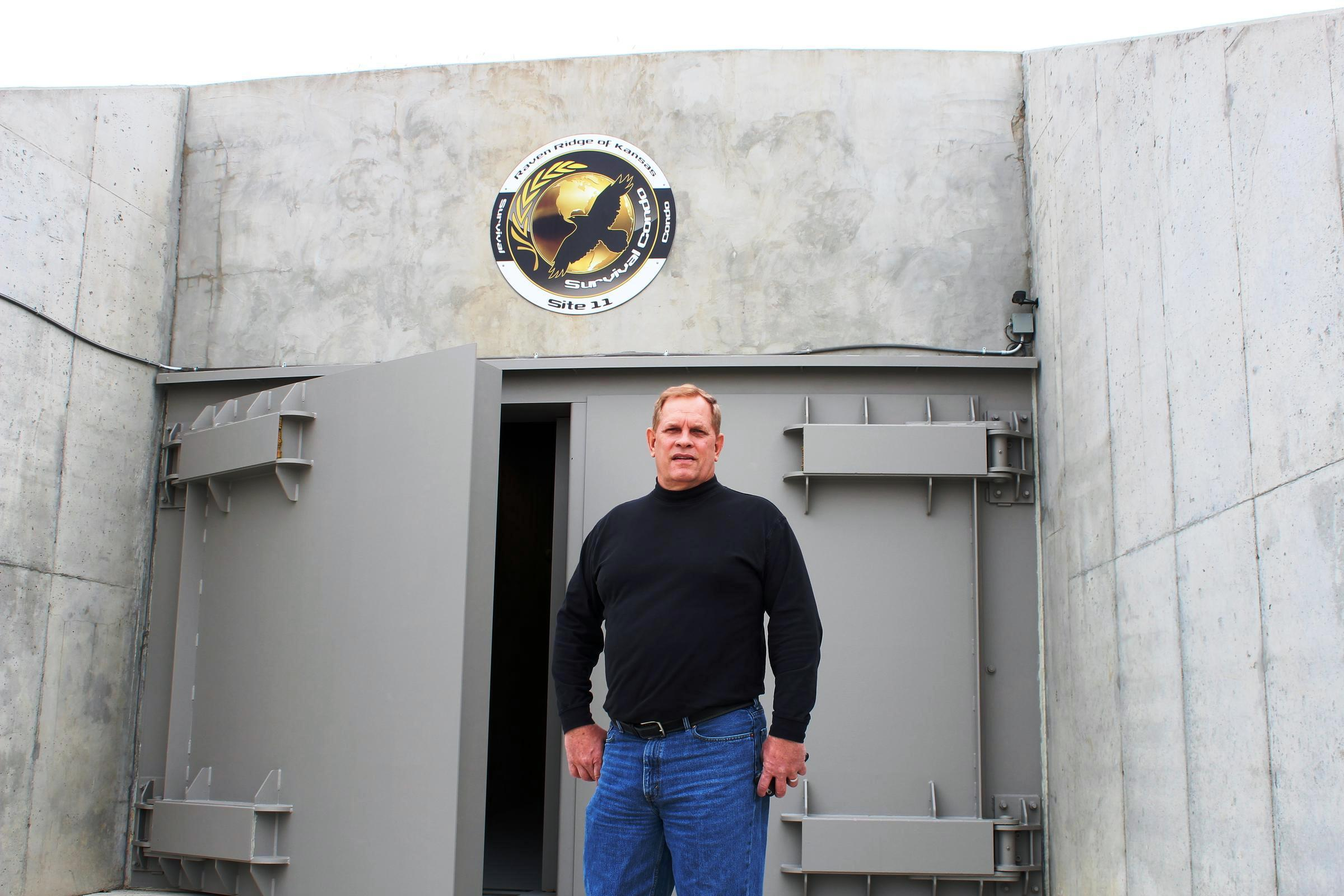 Shelter developer Larry Hall stands outside the blast doors of his survival bunker.  sc 1 st  Harvest Public Media & In An Age Of Anxiety Apocalypse-Proof Bunkers On The Great Plains ...