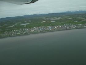 The village of Togiak from the air during a Fish and Game aerial survey earlier this summer.
