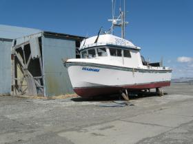 A driftnet vessel in Clarks Point.