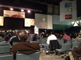 Senator Lisa Murkowski delivered her annual speech to the Alaska Federation of Natives convention on Saturday.