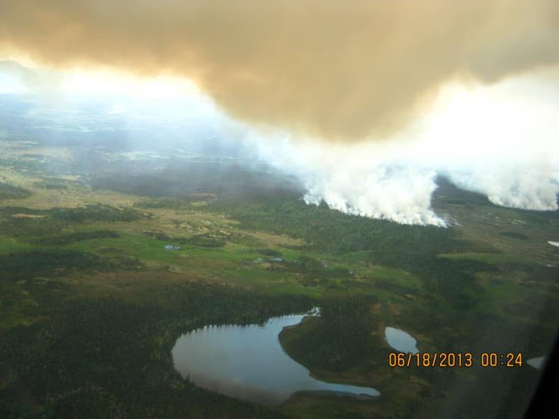 Lime Hills Fire on June 18, 2013