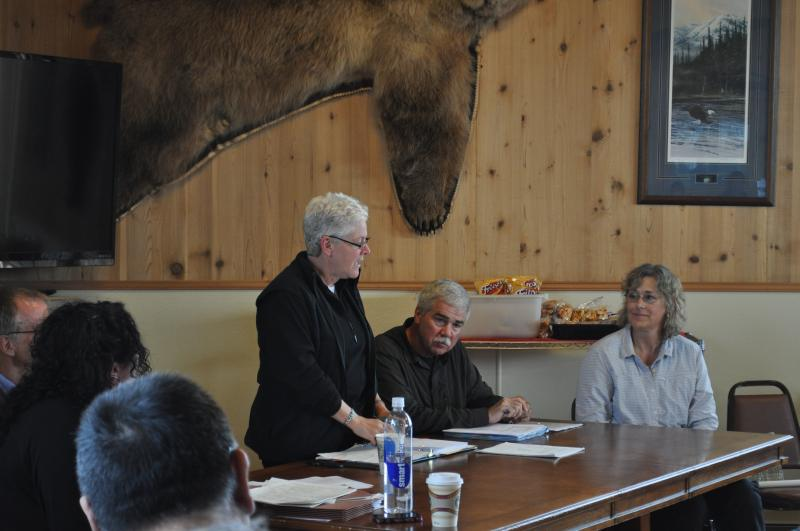 EPA Administrator Gina McCarthy attended a public meeting in Iliamna on Tuesday.