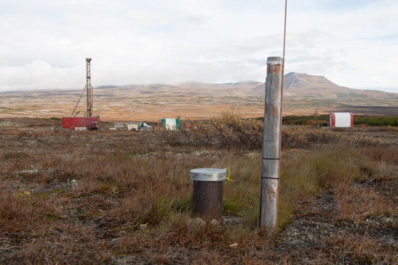 Reclaimed Drill Site w/ Operating Test Rig in Background