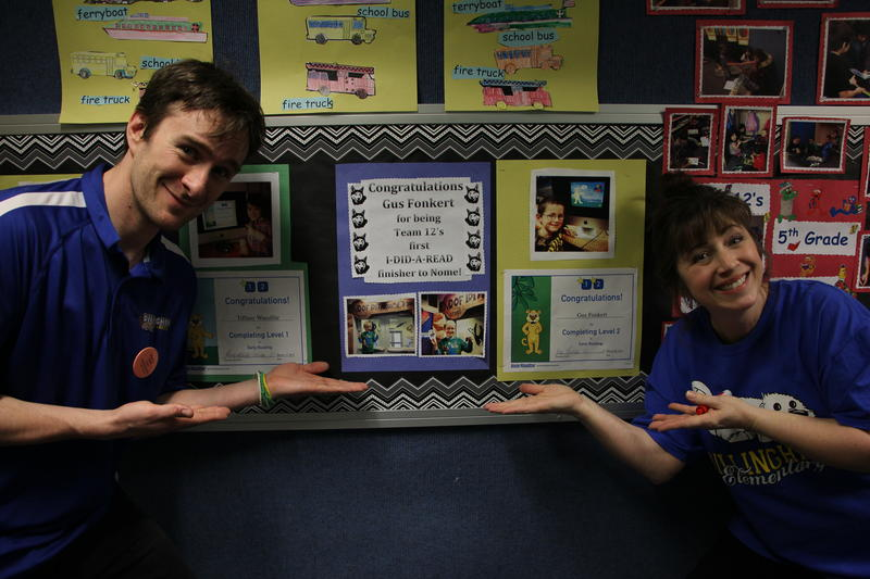 Nick Tweet and Theresa Leitz highlight kindergarten competitor Gus Fonkert, who led his class by reading an hour a day.