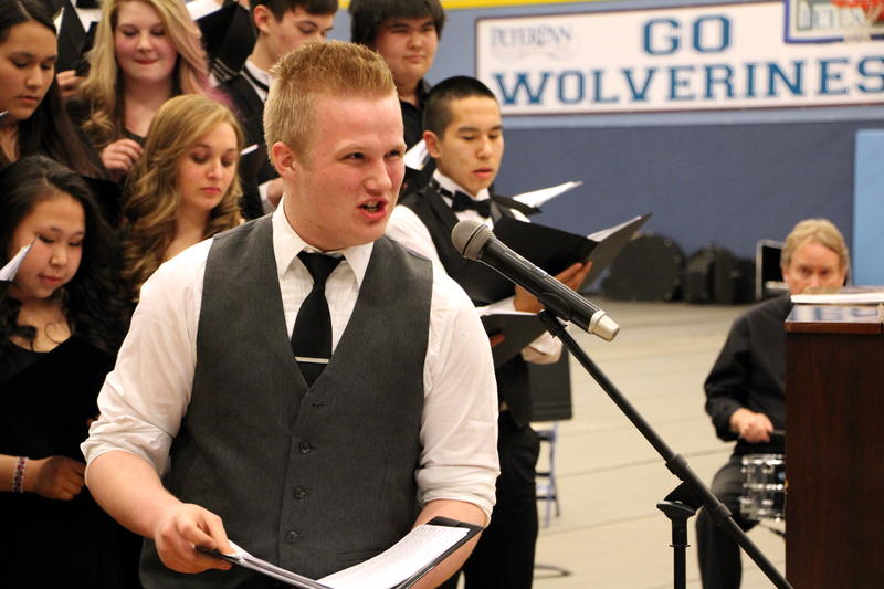 Matt Cochrane of Bethel sang a lively solo with the Region 1 Festival Chorus.