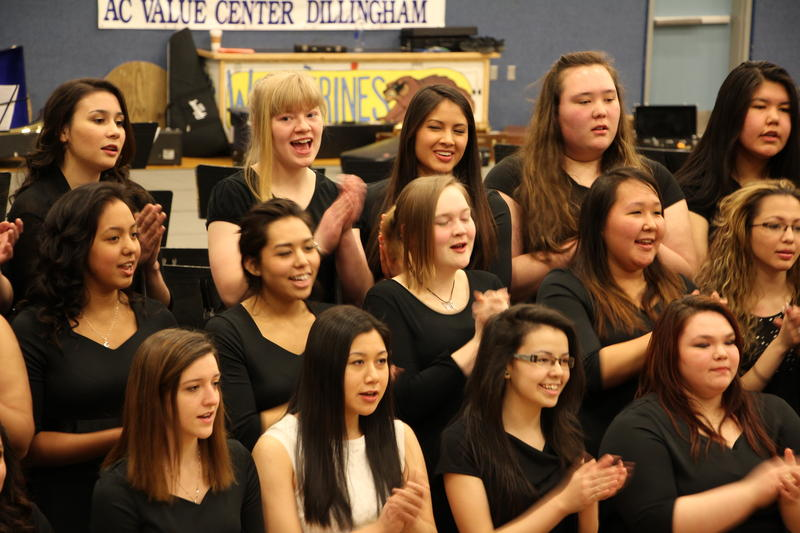 The festival chorus was directed by Gwendolyn Brazier of Fairbanks.