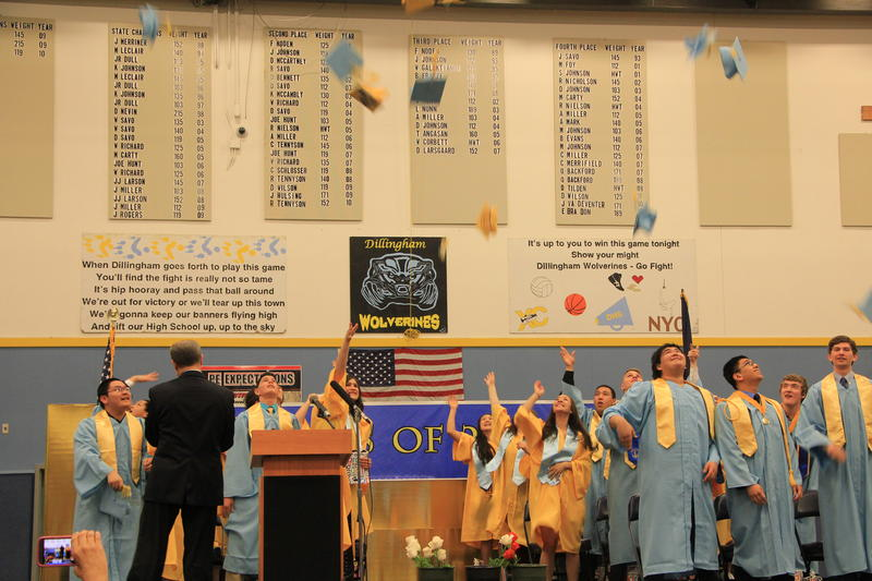 Dillingham Class of 2015 celebrates graduation Friday evening in the High School gym.