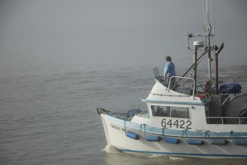 Skipper Pete Andrews pulling out of the Dillingham Boat Harbor, June 2016.