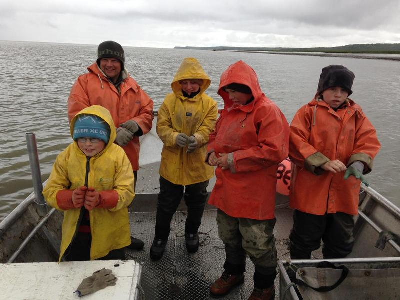 The Shawcroft family fishing at Coffee Point in July, 2016.