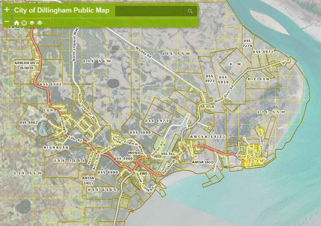 Interactive Map Of Alaska.City Of Dillingham Presents Interactive Web Map Kdlg