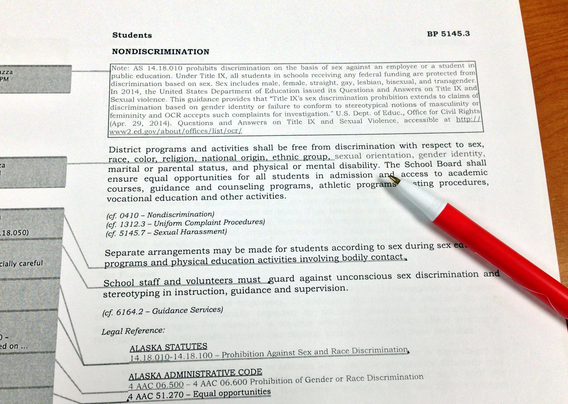 Alaska policy on sexual harrassment topic opinion