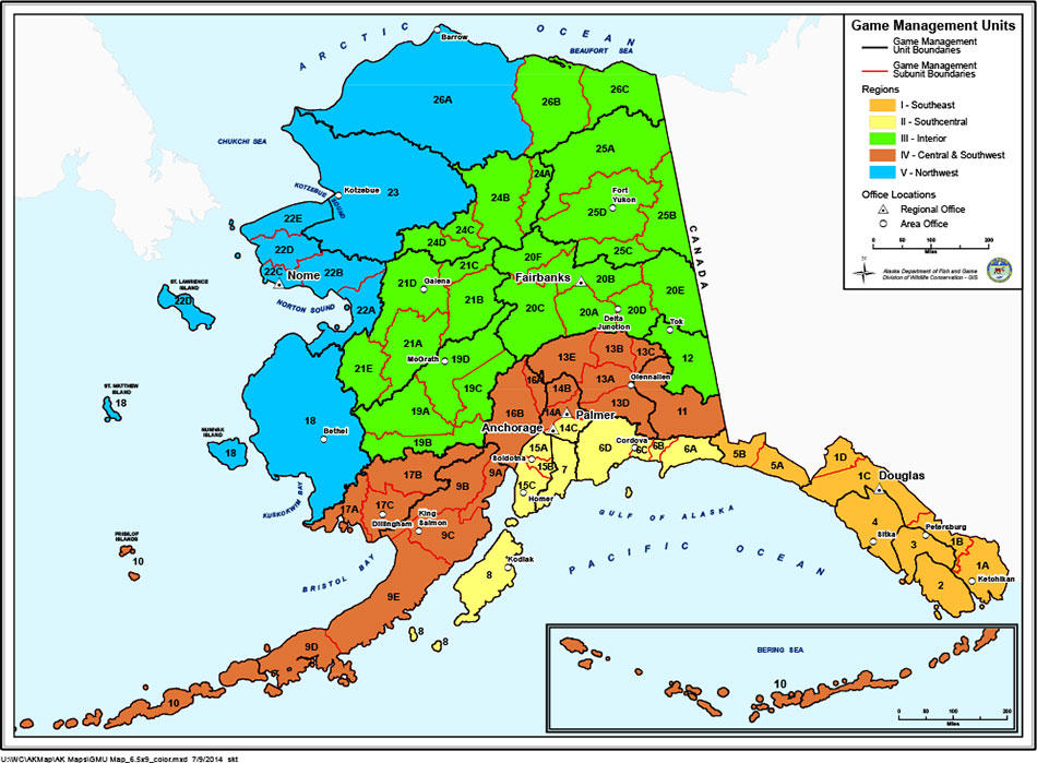 Sullivan moves to halt proposed ban on predator control in alaska the alaska department of fish and game divides the state into game management units some of which are designated for intensive management of predators sciox Choice Image