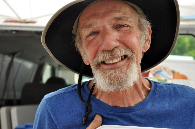 Peach Valley farmer Ken Kuhns co-founded the GWS Farmer's Market 33 years ago.