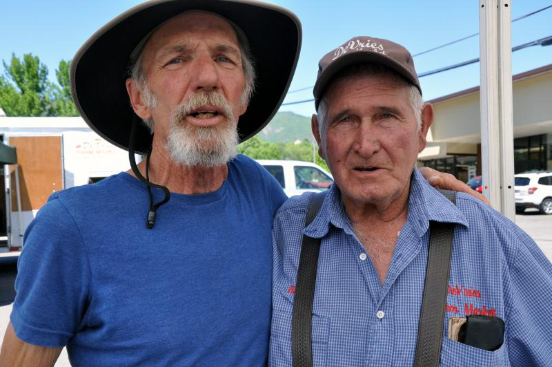 Ken Kuhns and Bill DeVries GWS Farmer's Market, June 29, 2017