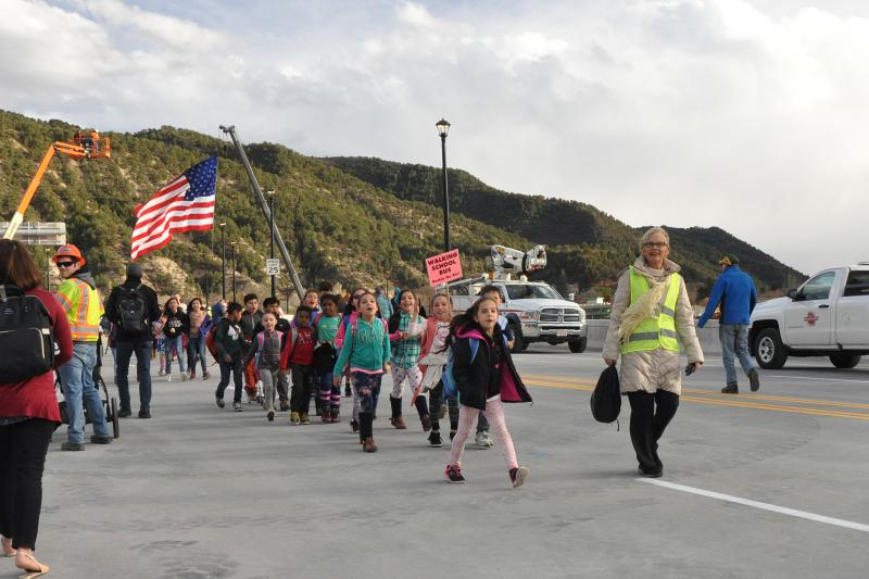 The Roaring Fork School District's Walking School Bus was a big success during the GAB closure.