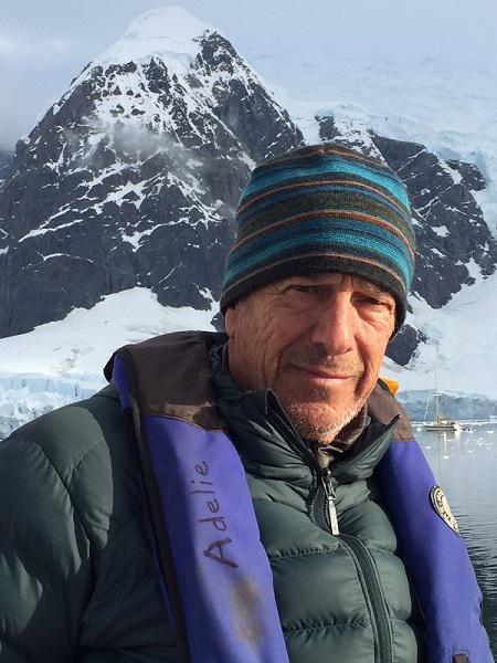 Ecoflight director Bruce Gordon in Antarctica