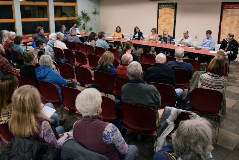 About 60 people attended the Carbondale Town Trustee Candidate Forum on March 5 at the Third Street Center.