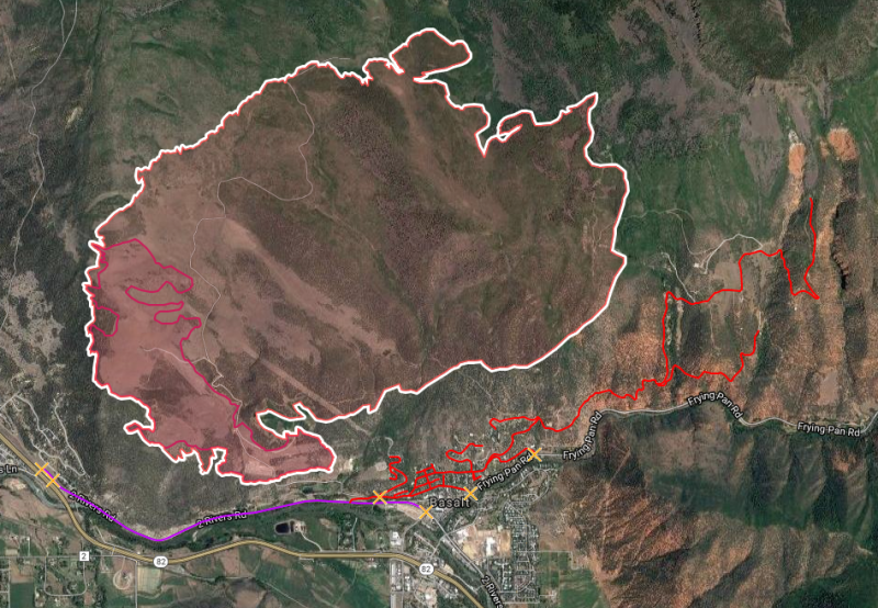 Lake Christine Fire Map Shows Evacuations | KDNK