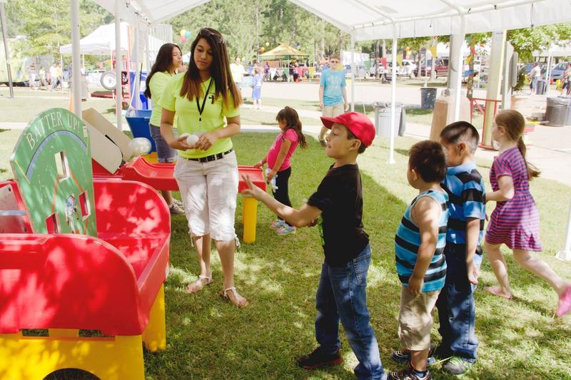 Children enjoy fun and games at Dia De La Familia