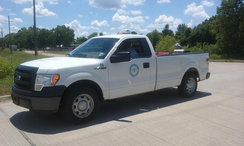 Ouachita Parish Mosquito Abatement trucks patrol for unseen dangers.