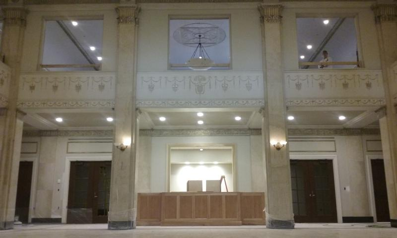 The Grand Lobby was hidden in the old state office building.