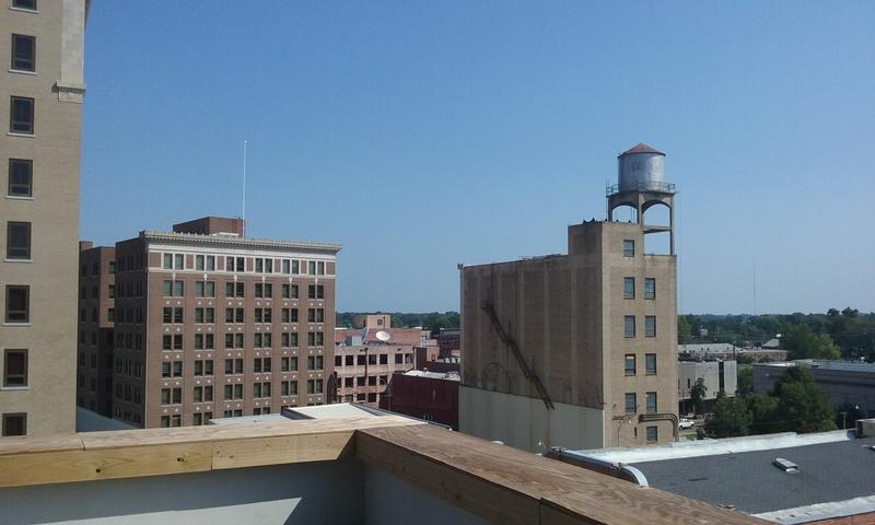 Downtown Monroe from the 6th floor.
