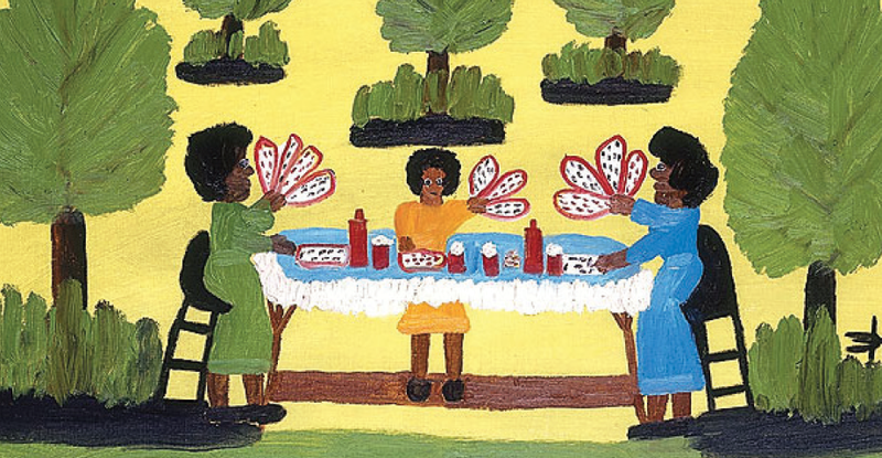 Clementine Hunter was a completely self taught artist.
