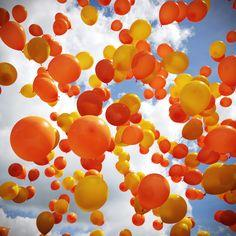 Balloons released symbolize hope for victims of bullying.