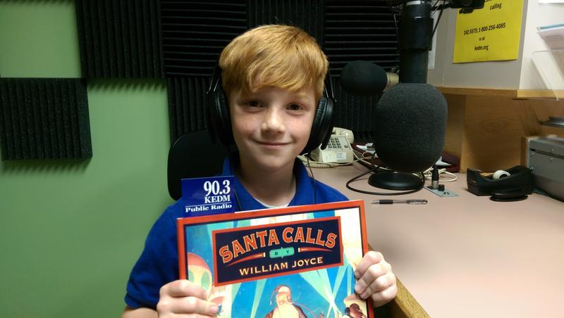 "Parker read from ""Santa Calls"" by William Joyce for the ""Give the Joy of Learning"" campaign."
